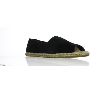 d6bf141a778 Shop TOMS Womens Open Toe Alpargatas Black Espadrilles Size 7 - Free  Shipping Today - Overstock - 25617177