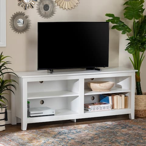 58-inch TV Stand Console with Adjustable Shelving