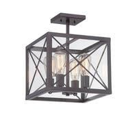 Designers Fountain 87311 High Line 4-Light Semi-Flush Ceiling Fixture - Satin Bronze - n/a