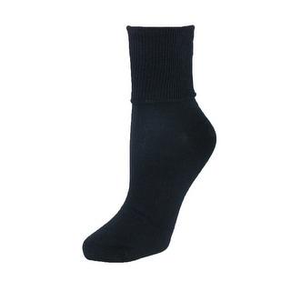 Jefferies Socks Women's Plus Size Cotton Turn Cuff Sock - One size