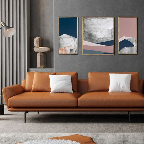 3 Pieces Abstract Wrapped Canvas Print - Canvas Artwork 1/2/3