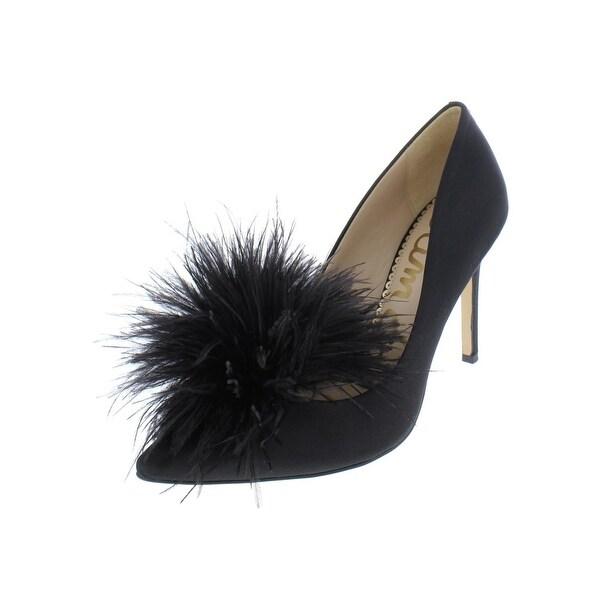0899219f6 Shop Sam Edelman Womens Haide Dress Heels Satin Feather Pom - Free ...