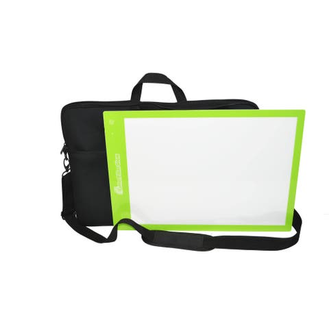 Cutterpillar Advanced LED Technology Glow Basic Light Board with Cutting Mat and Travel Tote Bundle