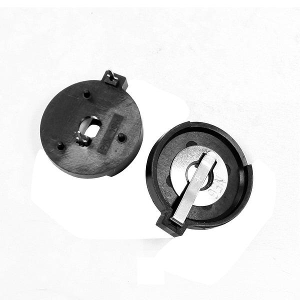2 Pcs Lithium Button Battery Holder Case Black for CR/LIR2430