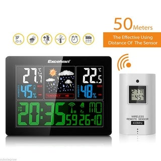 Wireless COLOR Weather Station With Forecas Indoor Outdoor Temperature Humidity