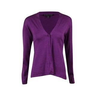 Eileen Fisher Women's V-Neck Knit Merino Cardigan - Fig|https://ak1.ostkcdn.com/images/products/is/images/direct/6ee029702da8483bf3bb4e7ef8e0d376d2a48b57/Eileen-Fisher-Women%27s-V-Neck-Knit-Merino-Cardigan.jpg?impolicy=medium