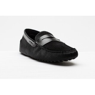Tod's Men's Suede Mocassino Gomino Nuovo Loafer Shoes Black