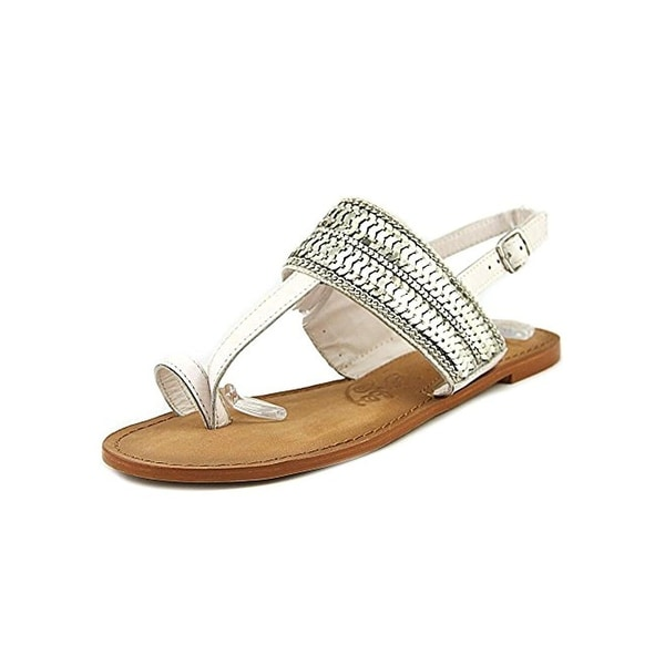 Naughty Monkey Womens Petra Slingback Sandals Leather Sequined