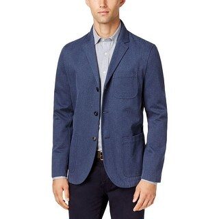 Tommy Hilfiger Mens Sportcoat Workwear Button-Up