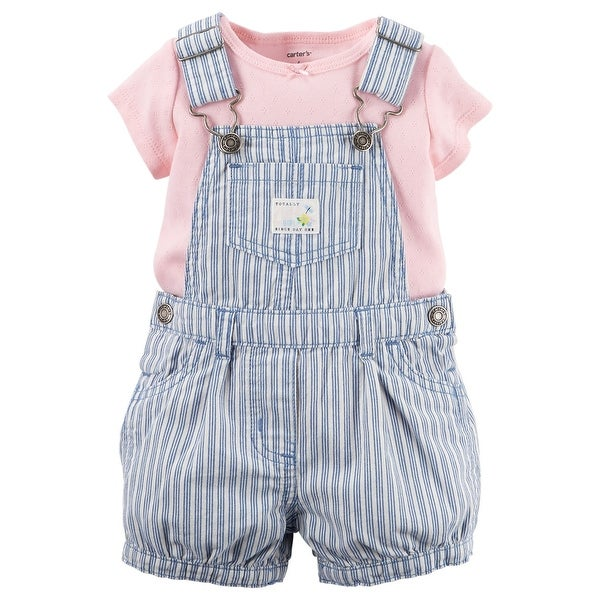 9184cb83a Shop Carter s Baby Girls  2 Piece Collection Denim Shortall