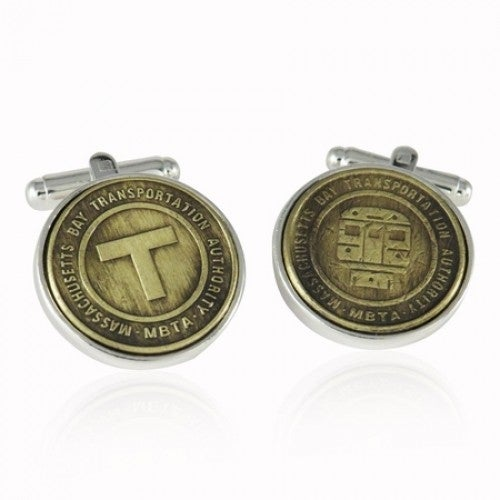 Boston Subway Token Cufflinks Mbta Coin Collector Memorbilla