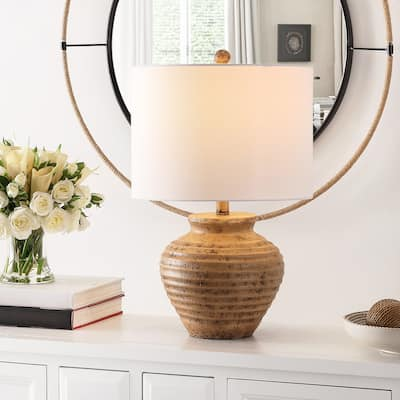 "SAFAVIEH Lighting 23-inch Kamryn Resin Table Lamp - 14"" x 14"" x 23"""
