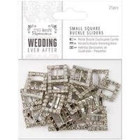 Square - Papermania Ever After Wedding Buckle Ribbon Sliders 25/Pkg