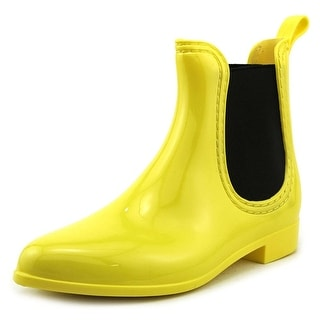 Dirty Laundry Chariot Women Round Toe Yellow Rain Boot