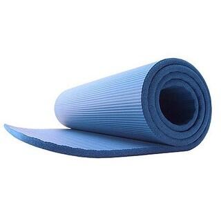 GoFit Deluxe Pilates Foam Mat - Blue