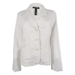 Ralph Lauren Women's Linen Blend Blazer - White