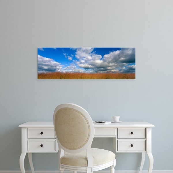 Easy Art Prints Panoramic Images's 'Clouds over a field, Hayden Prairie State Preserve, Howard County, Iowa' Canvas Art