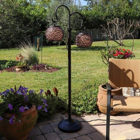 """Gardner Oil Rubbed Bronze 62-inch Indoor/ Outdoor Floor Lamp - 24"""" x 12.5"""" x 62"""" H"""