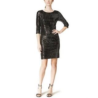 Jessica Howard Three Quarter-Sleeve Sequin Sheath Dress - 12