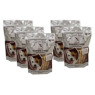 Tartar Shield Soft Rawhide Chews for Small Dogs 30 Count 5 Pack