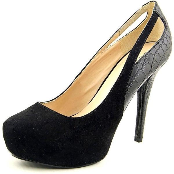 Guess Rossa Women Open Toe Synthetic Black Platform Heel