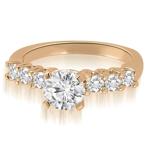 1.60 cttw. 14K Rose Gold Classic Round Cut Diamond Engagement Ring