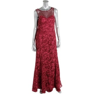 Ignite Evenings By Carol Lin Womens Evening Dress Soutache Embellished
