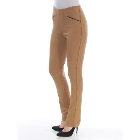 INC Womens Brown Straight leg Wear To Work Pants Size XS