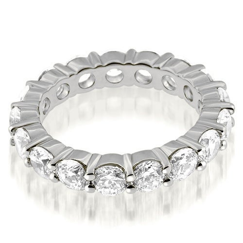 3.40 cttw. 14K White Gold Round Cut Diamond Eternity Ring