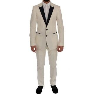 Dolce & Gabbana White MARTINI Slim Fit Suit - it48-m