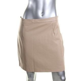 Bardot Womens Faux Leather Solid Mini Skirt