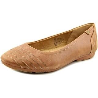 Easy Spirit Oraciawm Women Round Toe Leather Brown Flats