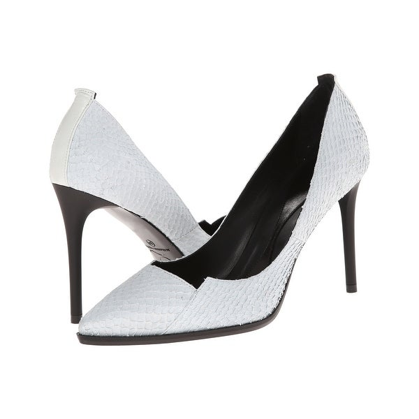 McQ Alexander McQueen NEW White Women Shoe Size 10M Leather Pump