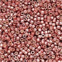 Miyuki Delica Seed Beads 11/0 - Duracoat Galvanized Dark Coral DB1839 7.2 Grams
