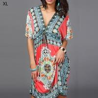 3859bc90d40d7 Shop Tonval Floral Print Summer Chiffon Dress Summer 2017 Women Hot ...