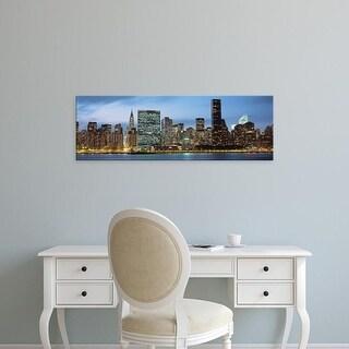 Easy Art Prints Panoramic Images's 'Manhattan, NYC, New York City, New York State, USA' Premium Canvas Art