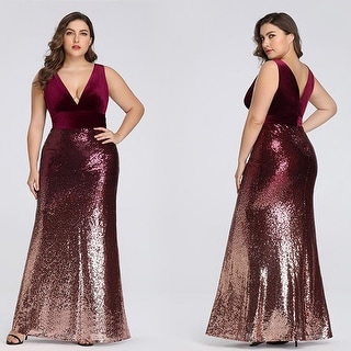 Ever-Pretty Womens Sexy Mermaid Sequin Cocktail Prom Ball Gown for Women 077672