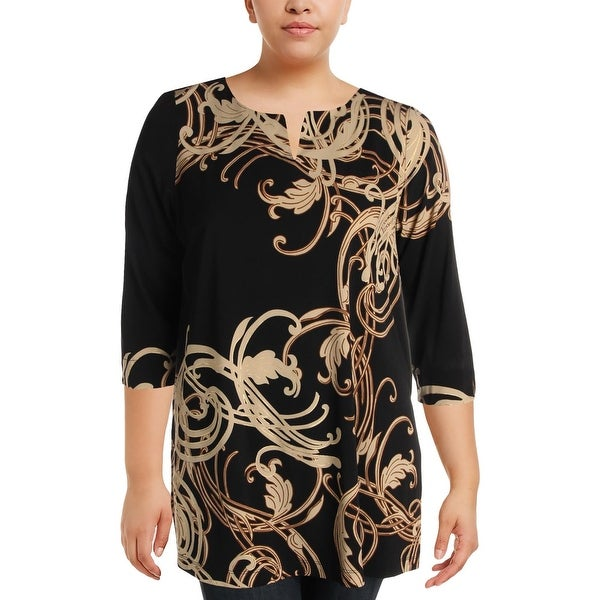 a46ccbe6316 Shop Rafaella Womens Plus Dress Top Tunic V-Neck - Free Shipping On Orders  Over $45 - Overstock - 23008912
