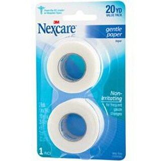 20Yds - Nexcare Gentle Paper First Aid Tape 2/Pkg