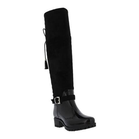 Spring Step Women's Mattie Tall Boot Black Microsuede