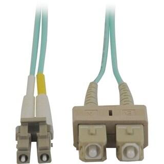 Tripp Lite N816-05M Tripp Lite 10Gb Duplex Multimode 50/125 OM3 - LSZH Fiber Patch Cable (LC/SC) - Aqua, 5M (16-ft.)