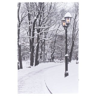 """Link to Winter Park LED Lighted Canvas Wall Art 15.7""""x 23.6"""" w/Timer - 15.7x 23.6 Similar Items in Christmas Decorations"""