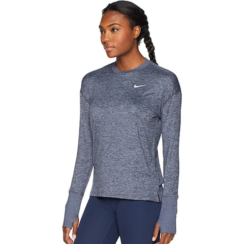 Nike Women's Running Long Sleeve Sweater, Grey, Small