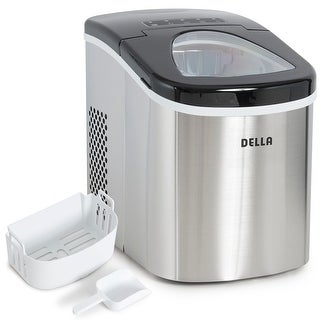 Della Portable Top Load Electric Ice Maker Produces up to 26 lbs. of Ice Daily, 2-Size Black / Stainless Steel|https://ak1.ostkcdn.com/images/products/is/images/direct/6eeec2411b5d5f7de0623598a577e82a16e74360/Della-Portable-Top-Load-Electric-Ice-Maker-Produces-up-to-26-lbs.-of-Ice-Daily%2C-2-Size-Black---Stainless-Steel.jpg?_ostk_perf_=percv&impolicy=medium