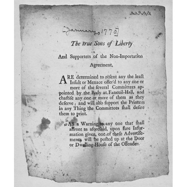 Shop The American Revolution Broadside Encouraging Action By The