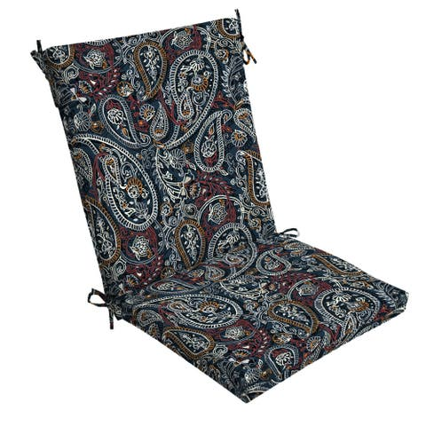 Arden Selections Palmira Paisley Outdoor Chair Cushion - 44 in L x 20 in W x 3.5 in H