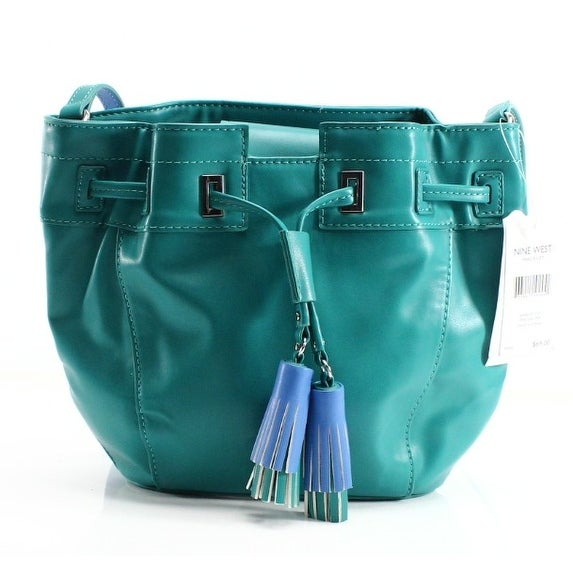 Shop Nine West NEW Green Peacock PVC Take A Lift Tassel Crossbody Bag Purse  - Free Shipping On Orders Over  45 - Overstock - 19560278 abfcaf94acc6b