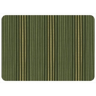204911342231 Hand Painted Stripe in Forest Green - 1.83 ft. x 2.58 ft.
