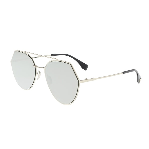 4602713c29 Shop Fendi FF 0194 S 03YG Eyeline Light Gold Eyewear Sunglasses ...