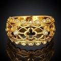 Laser Cut Matrix Gold Design Ring - Thumbnail 1